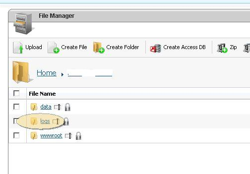 IIS log  files on wsp